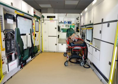 Ambulance simulator backdrops