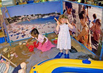 Seaside setup in a nursery school