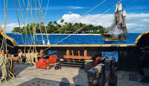pirate ship backdrop - side deck