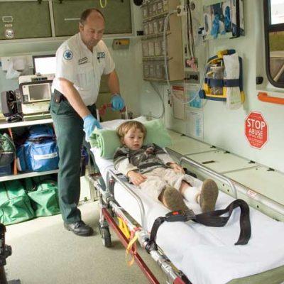 ambulance inside backdrop