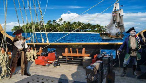 pirate ship backdrop