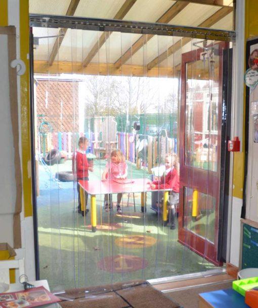 clear pvc strip door