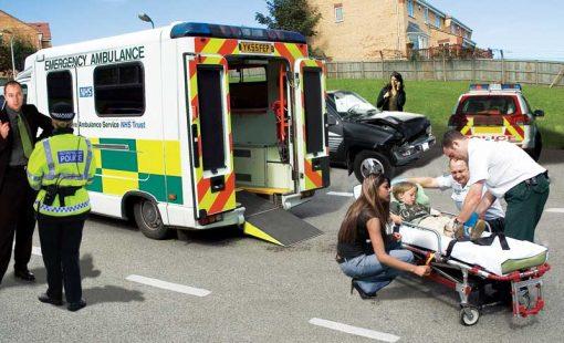 ambulance outside backdrop