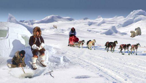arctic eskimos backdrop