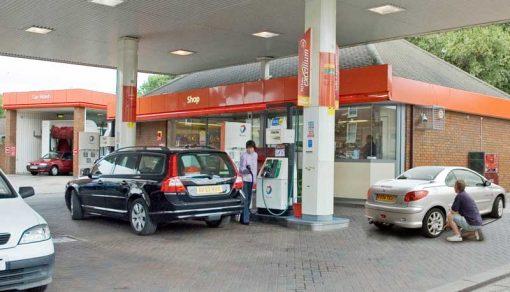 filling station backdrop