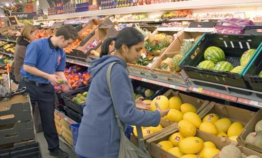 supermarket shopping backdrop