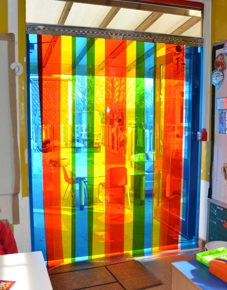 Pvc Strip Door Curtain Rainbow Mybackdrop Co Uk
