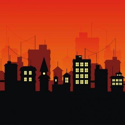 city skyline backdrop
