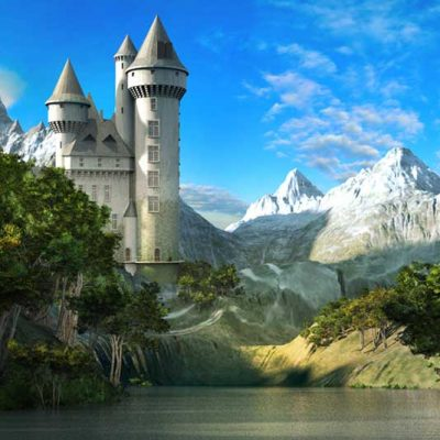 Fairy tale castle exterior backdrop 2