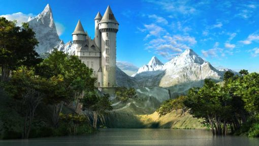 Fairy tale castle exterior backdrop 2