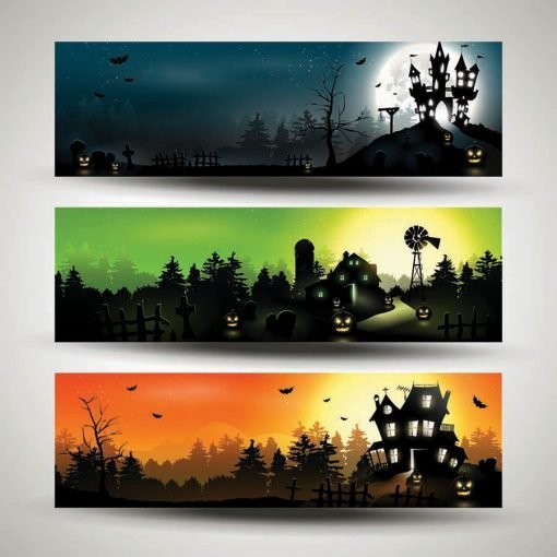 halloween triple backdrop