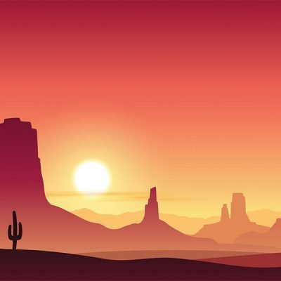 desert cartoon backdrop