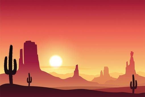 desert cartoon backdrop