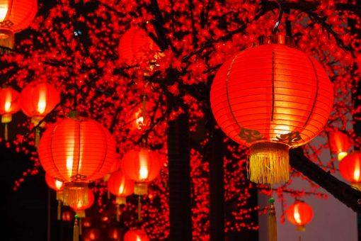 chinese new year lanterns backdrop