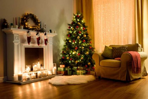 christmas fireside backdrop 2