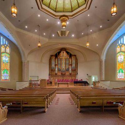 church interior backdrop