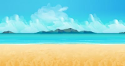 beach backdrop illustration