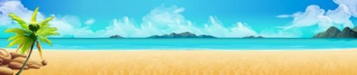 beach backdrop illustration