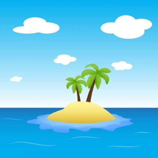 desert island backdrop