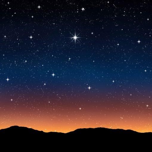 Night Sky Sunrise ackdrop