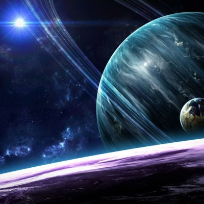 space planets backdrop