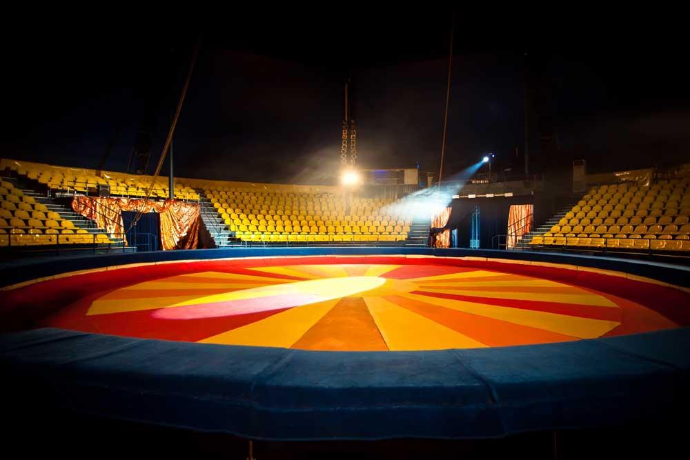 circus ring backdrop