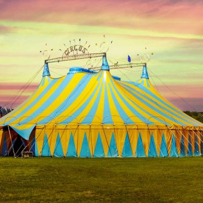 circus tent backdrop