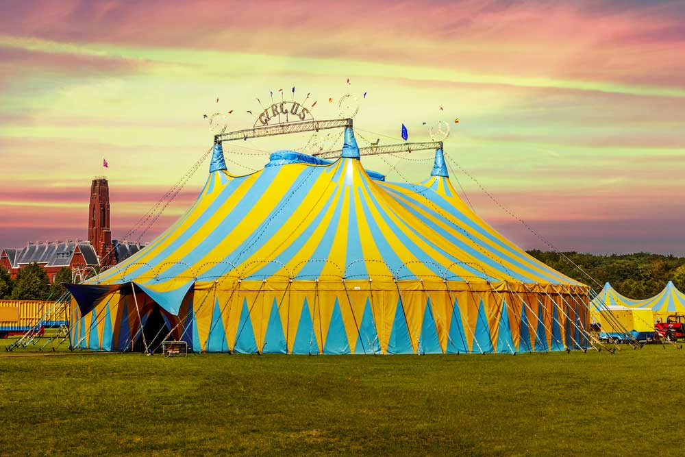 circus tent backdrop