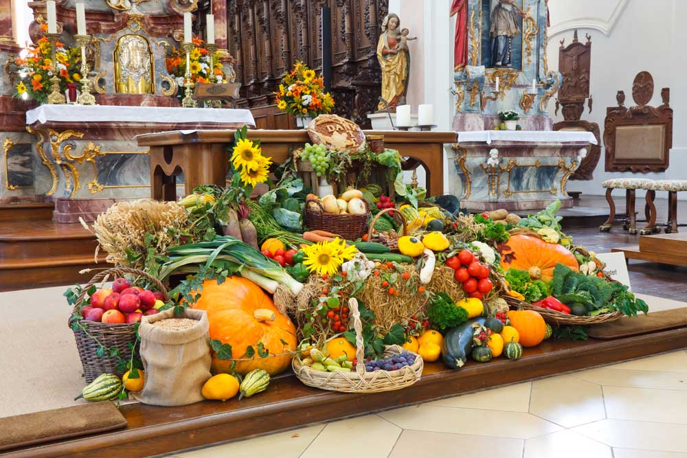 harvest festival backdrop display