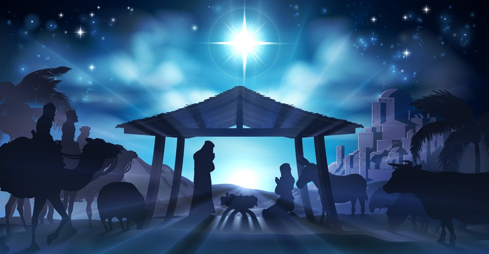 nativity illustration 2 backdrop