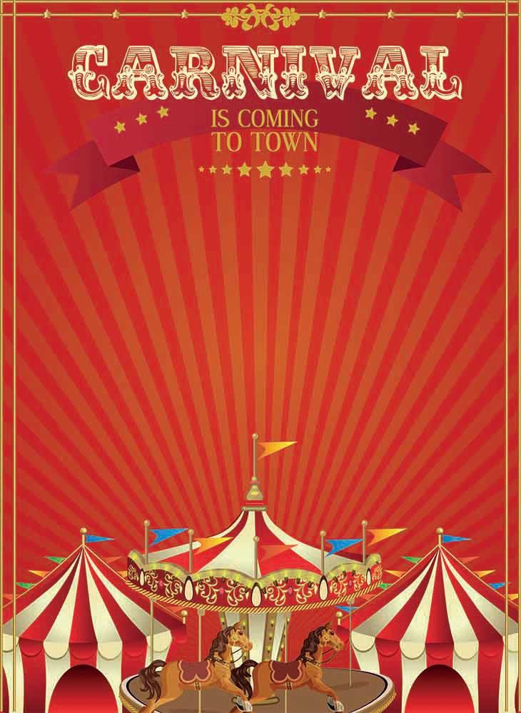 carnival poster backdrop