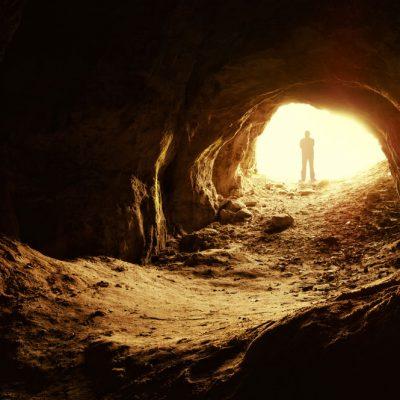cave backdrop - sunlit entrance