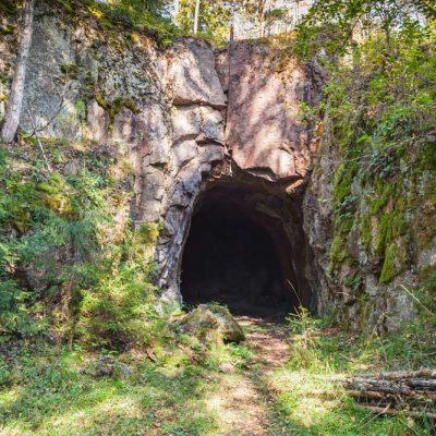 cave backdrop outside