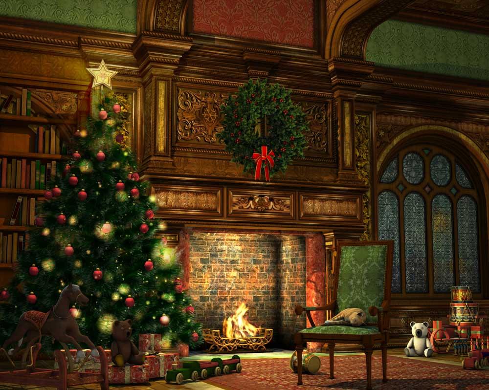 christmas fireside backdrop 4