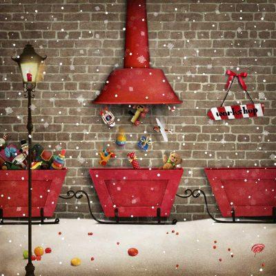 santa's workshop backdrop