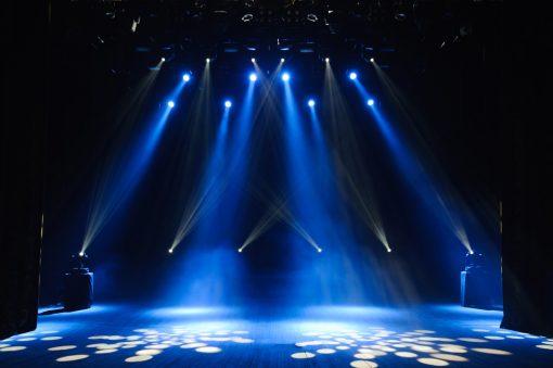 talent show backdrop - blue
