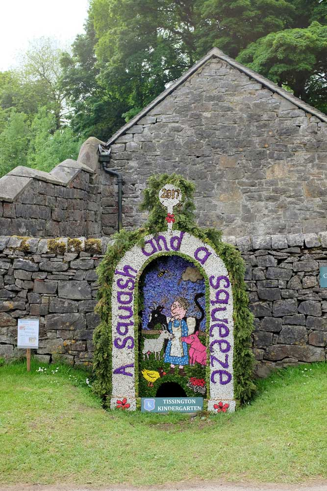 well dressing image backdrop