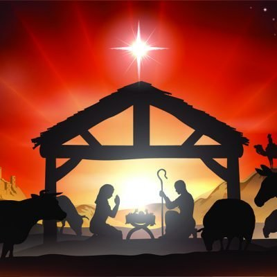 nativity illustration backdrop