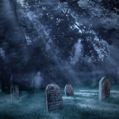 halloween graveyard backdrop 3