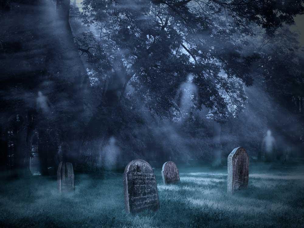 halloween graveyard backdrop 3