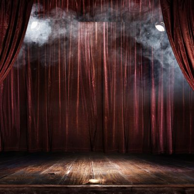 stage backdrop - lights & smoke