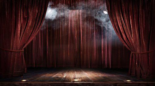 stage backdrop - lights & smoke