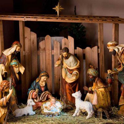 traditional nativity backdrop
