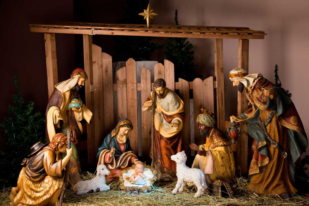 traditional nativity backdrop