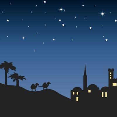 Nativity Bethlehem Illustration