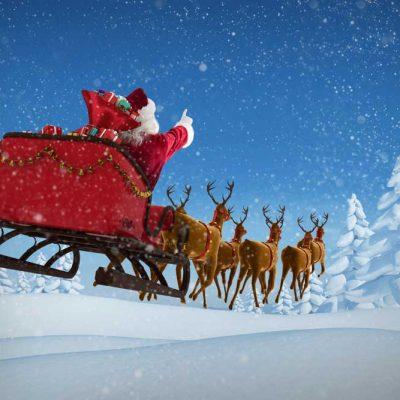 Santa-Sleigh-Sky-flying
