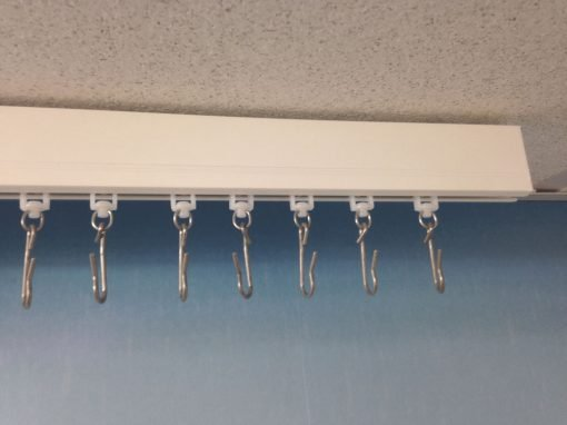 Backdrop curtain track and hooks