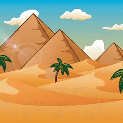 pyramids-and-desert illustration