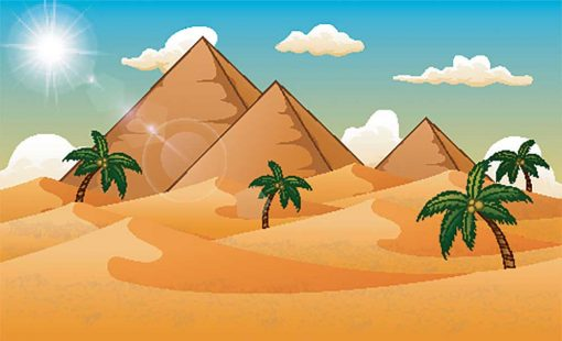 pyramids-and-desert illustration