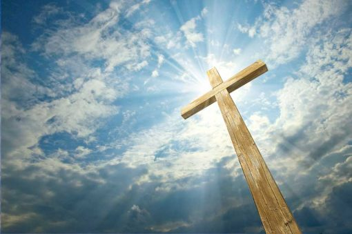 Easter-Cross-and-Sky Backdrop
